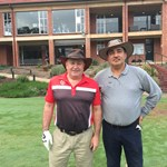 Playing for the Men's C Grade Final - Kevin Naughton & Sham Sharma