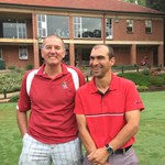 Playing for the Men's Club Championship - Barry Smith & Claudio Sequeira