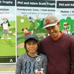 Phil and Adam Scott Trophy Father Son Winners Chantha and Orton KONG