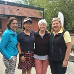 Ladies Championships B Grade Semi Finalists Dee Bennett vs Sarah M Jung and Elizabeth Shapcott vs Deb Decelis