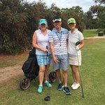 Merrilyn Middleton & Se Young Jung - Semi Finalists with caddy Jin Woo